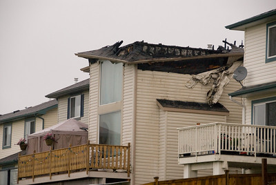This is what the house looked like the morning after.