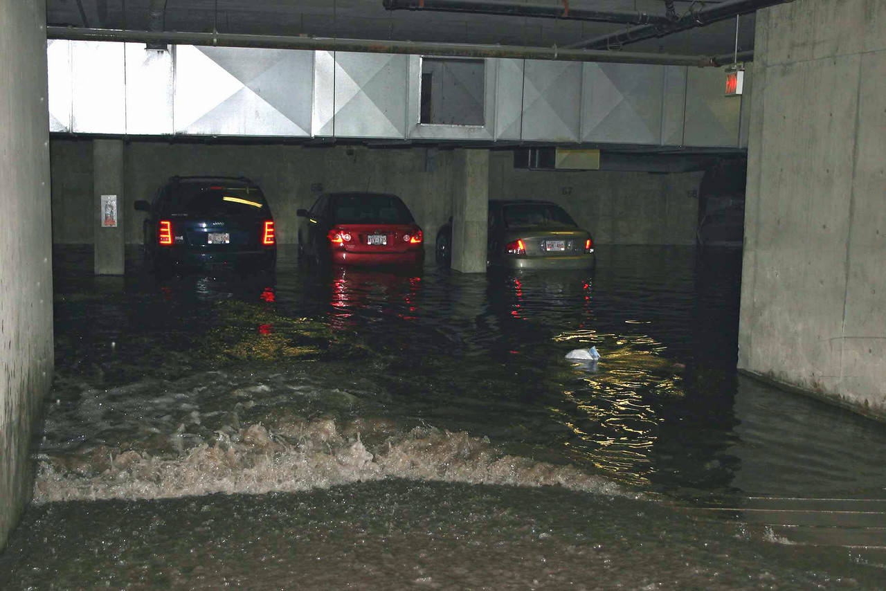 I didn't take this photo, but it shows the flooding that happened in other parts of the city.