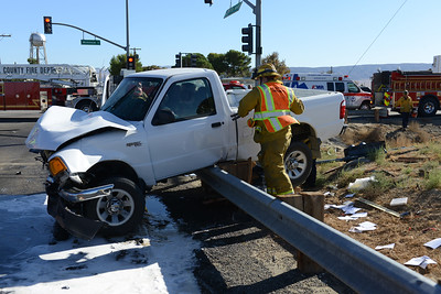 Lancaster, CA. Los Angeles County Fire Dept. Responded to Avenue I and 60th Street West Friday afternoon on a major traffic accident. Avenue I and 60th Street West were closed for several hours for the investagation.