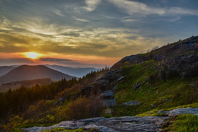Sunset from Black Balsam, Pisgah National Forest, NC