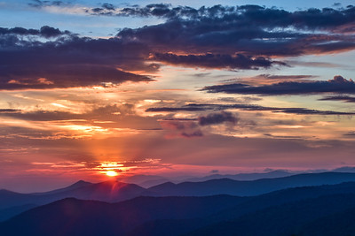 Sunrise from Black Balsam Overlook, Pisgah National Forest, NC