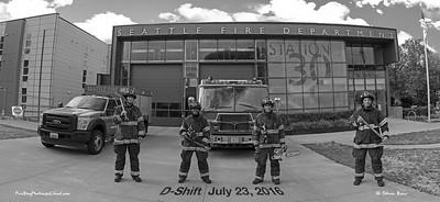 Seattle Fire Station 30, D-Shift in Bunkers, B&W