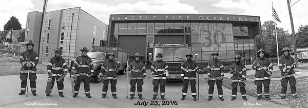Seattle Fire Station 30 in Bunkers B&W