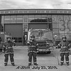 Seattle Fire Station 30, A-Shift in Bunkers, B&W