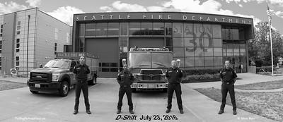 Seattle Fire Station 30, D-Shift in Class B, B&W