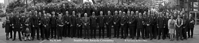 2016 Seattle Fire Awards Ceremony B&W