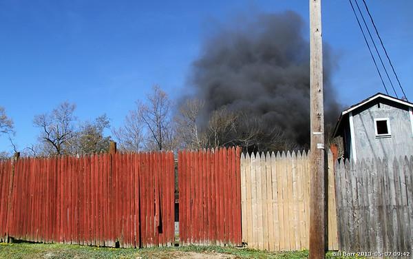 Junk Yard Fire Hazle Twp 5/7/13