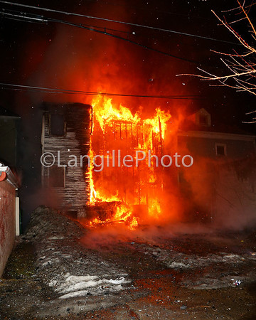 First significant fire we responded to. This is the back of the building on Proctor St. Two dwellings were involved in this fire.