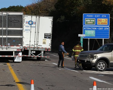 I-80 Crash River  on Lehigh River Bridge 10/11/16