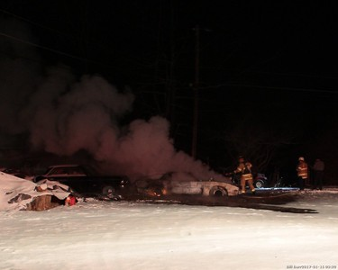 White Haven - East Side Vehicles Fire 1/15/17