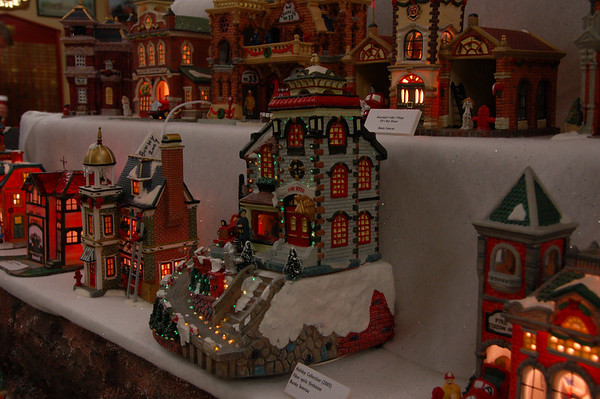 Seasonal ceramic firehouse display each year for the holidays