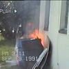 Trash fire.  Sept. 9, 1991