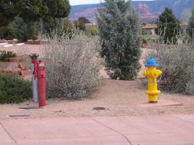 Sedona, AZ FDC, hydant, indicator valve