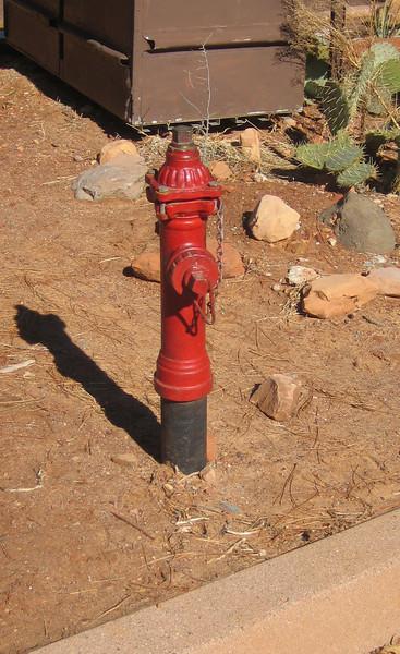 Sedona, AZ 3 inch hydrant at Slide Rock
