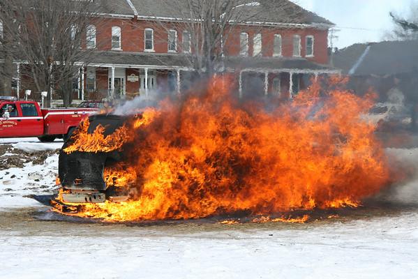 St. Michaels, VT - MVA and Car Fire Demo, 3-29-08