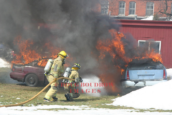 St. Michaels, VT - MVA and Car Fire Demo, 3-24-07