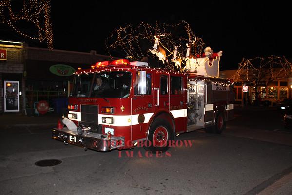 Winthrop, MA Firefighters Annual Chrismas Eve Santa Parade 12-24-12
