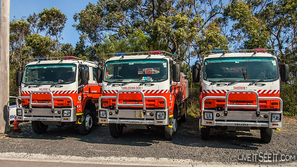 Strike Teams form at Gosford Fire Control Centre for tasking to Incidents