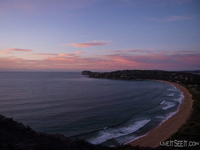 Dawn from Barrenjoey lighthouse overlooking Palm Beach