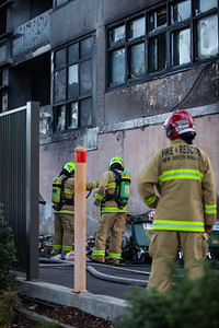 Zetland 3rd Alarm - Bins impacting Building