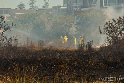 NSW Fire Brigades responded a 5th alarm to this scrub fire in Malabar, near the Long Bay prison along the Sydney coast.
