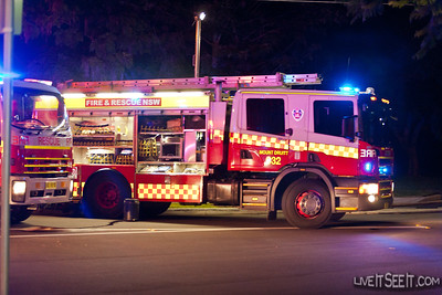 P32 Mt Druitt at Staging for the Log Cabin Fire in Penrith The fire in March 2012 went to at least a 5th Alarm as firefighters worked to contain the blaze.
