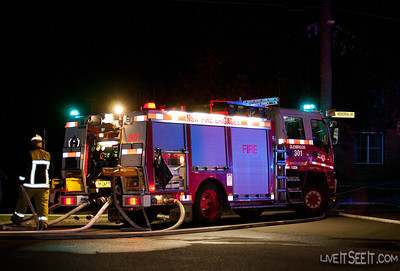 P301 Glenbrook at work on the Log Cabin Motel fire in Penrith