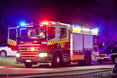 P41 Smithfield at the Log Cabin Fire in Penrith
