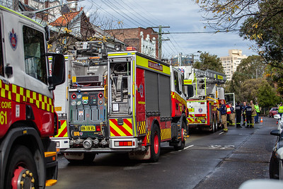 Exhaust system fire, Blues Point Road, June 2018