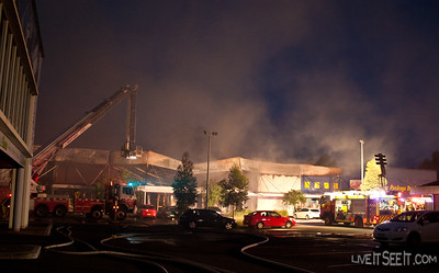Rescue 102 lights the front of the stores