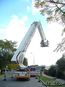 Perth CLP on scene at Studio Fire in Subiaco Perth CLP on scene at Studio Fire in Subiaco  June 2004