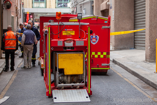 Flooding in the basement of a building in Haymarket was attended to by firefighters from City of Sydney station, with RP1 and DC City in attendance, along with the Hytrans POD and fleet officer