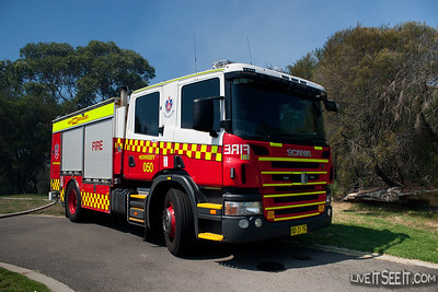 Pump 50 Hornsby at a Hazard Reduction Burn
