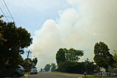Hazard Reduction Burn - Manly Dam Sat 22 Oct 2011