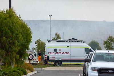 Working at a Hazard Reduction Burn in Mernda, Feb 2021