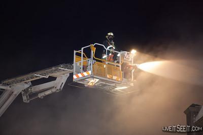 FRNSW Ladder Platform 18 Glebe at Work on a Laundromat fire in Newtown