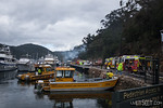Vessels from National Parks, Marine Rescue and NSW Maritime assisted with the firefighting effort, and then secured the surrounding waterway.