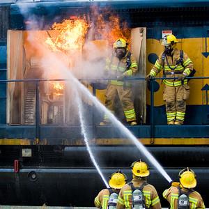 CSX Train Fire