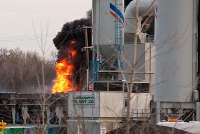 Cadillac Asphalt Plant Fire 4-2-09