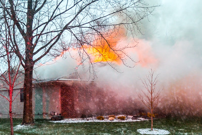 Village Wood House Fire - 1-10-2016 - Novi, MI