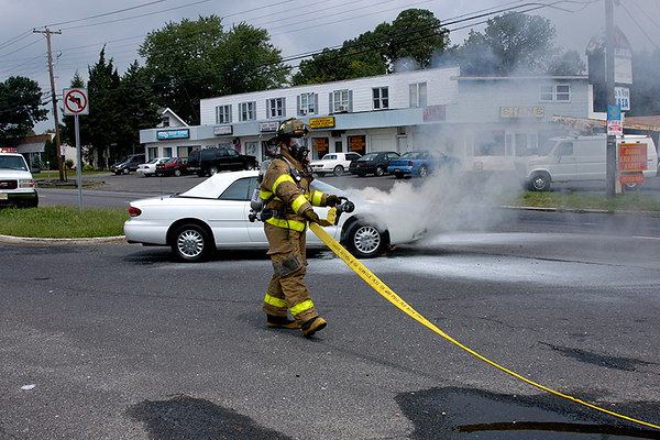 Car Fire Pine Street and Black Horse Pike