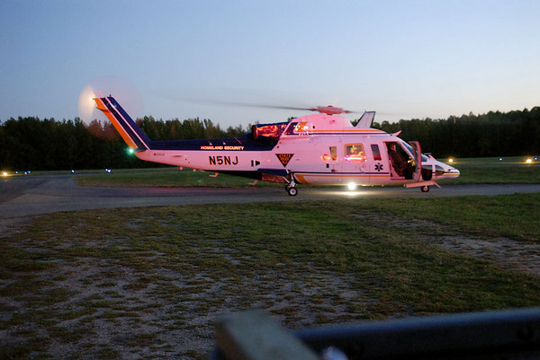 Airlift Injured Sky Diver