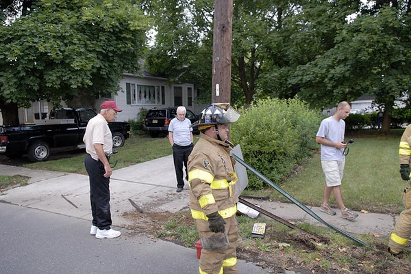 MVC Car Into Pole Saybrook Ave.