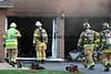Firefighters battle a garage fire in Weisenberg Township