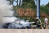 Firefighters from Bethlehem Township battle a car fire on Route 22