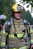 Fogelsville Firefighter Mike Deprill at the scene of a garage fire in Weisenberg Township