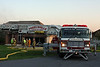 Fogelsville Truck 831 is set up at a garage fire in Weisenberg Township