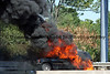 Fully involved car fire on Route 22 in Bethlehem Township