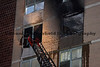 FDNY Ladder 103's stick is seen at a six floor window during a 10-77 at 1530 Pennsylvania Av