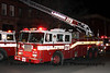 FDNY Ladder 173 operates at a private dwelling fire at 91 Saratoga Av